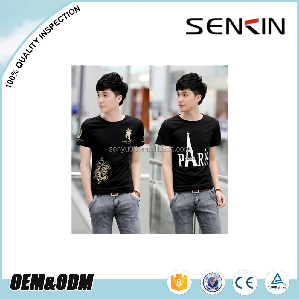 fashion design t shirt discharge printing with custom logo