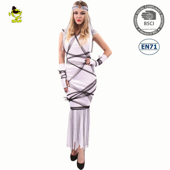 2018 Halloween sexy fancy dress mummy cosplay costume party long skirt costume women  sc 1 st  Alibaba & 2018 Halloween Sexy Fancy Dress Mummy Cosplay Costume Party Long ...