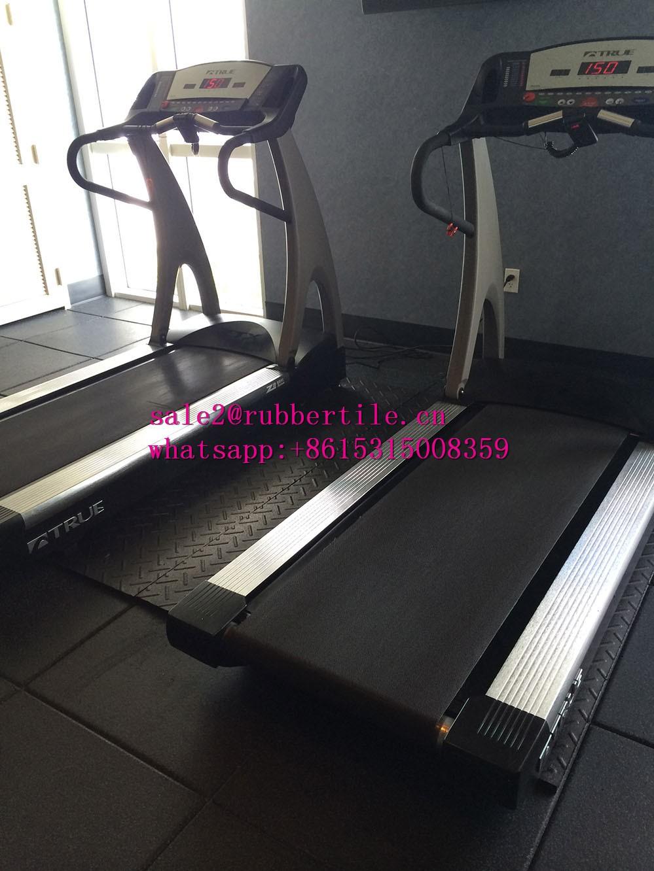 Home gym flooring quot puzzle lock rubber interlocking floor