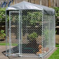 High Quality Easy Assembled galvanized outdoor chain link dog kennel/large dog fence/pet house