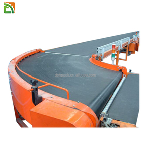 rubber flat system types small conveyor belt for express logistic