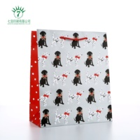 Big Cut !!! Custom Made Merry Christmas Printing Recycled Art Paper Gift Paper Bags From Professional Packaging Supplier