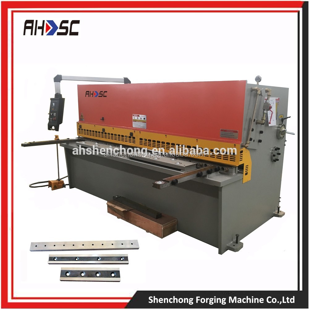 8mm Prompt Delivery hand swing shears machine/ cnc hydraulic guillotine shear machine v notch cutting tools made in China