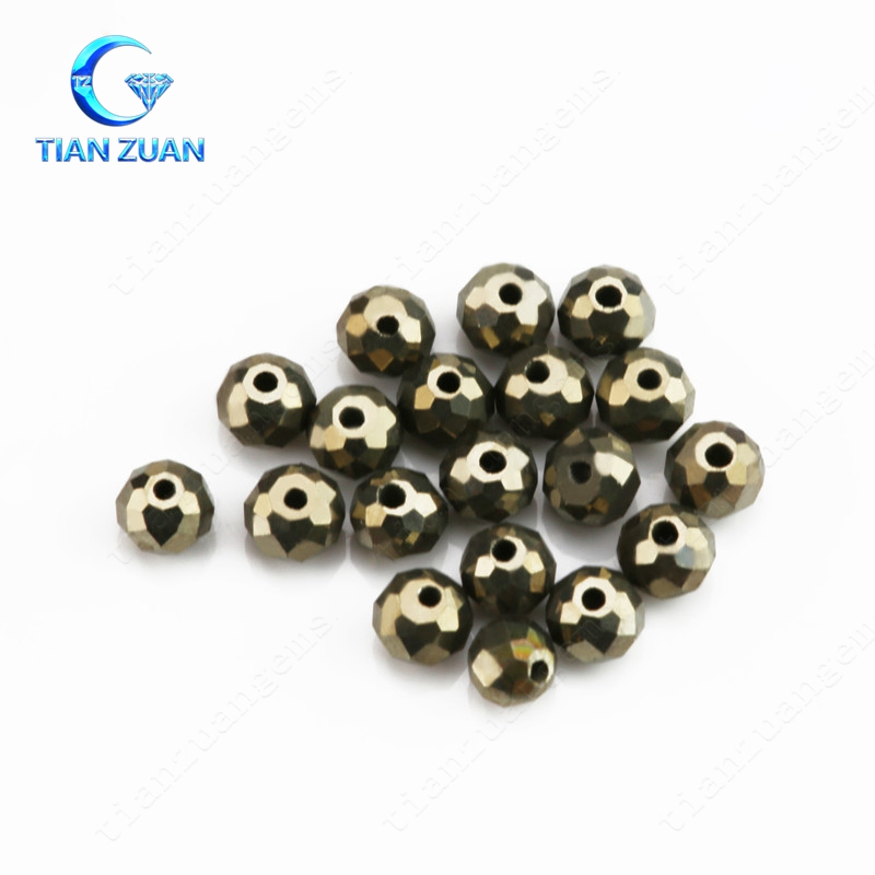 High Quality low price Natural Yellow Iron Ore, Yellow Beads with Holes
