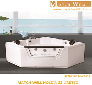 2014 New design indoor portable massage bathtub cheap cast iron small freestanding bathtub