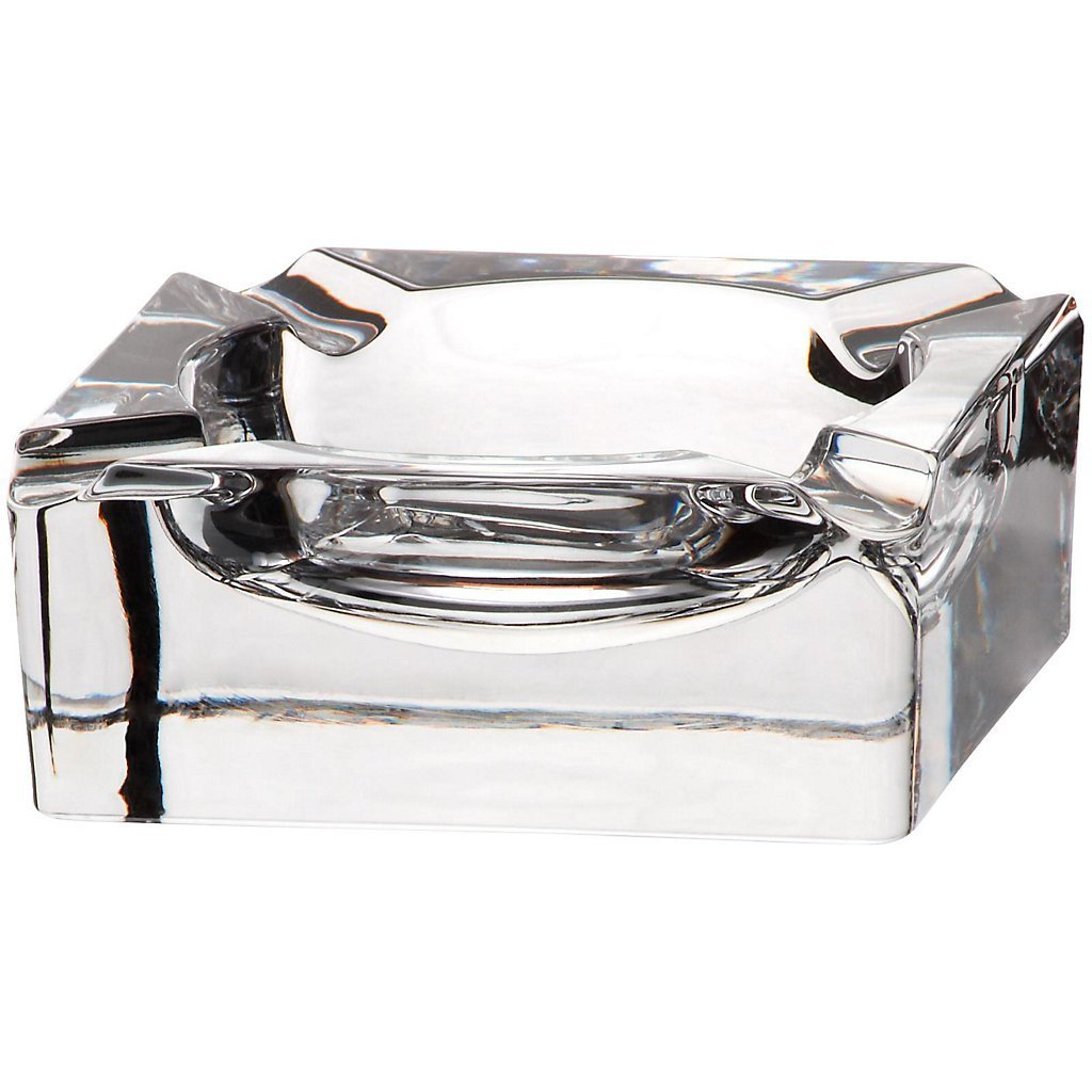 "Crystal Ashtray, Cigarette Ash Tray, Outdoor Ashtray, Garden Ashtray, Crystal Ashtray, Collection ""CASABLANCA"", 11X11 cm, transparent (GERMAN CRYSTAL powered by CRISTALICA)"