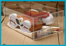 Clear acrylic sneakers display case shoes men display rack custom shoe box with logo clear sneaker box acrylic