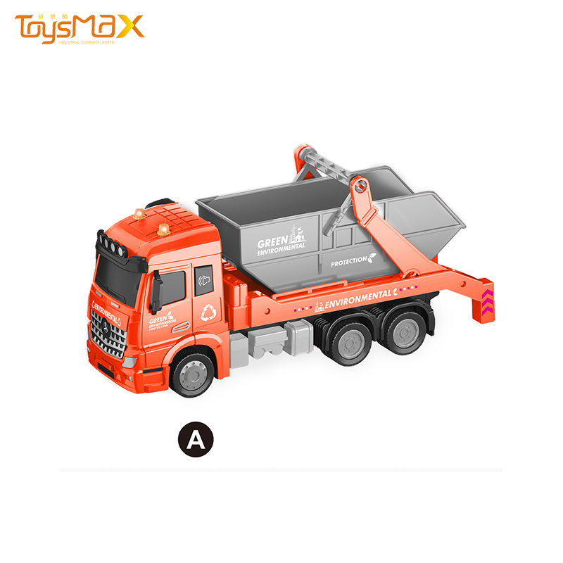 1:46 Scale 2019 Europe style New Popular Pull Back Alloy Cleaning Truck Toys Battery operated Die Cast Model Truck