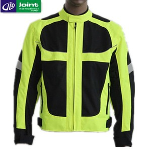 Fluorescent Green Cordura 600D Motorcycle Jacket