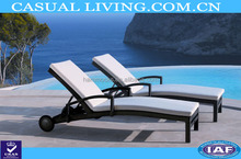 New portable lounger chair with wheel customized lazy body deck chairs bench