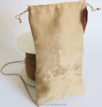Free samples available sac recycled jute pouch burlap coffee bags
