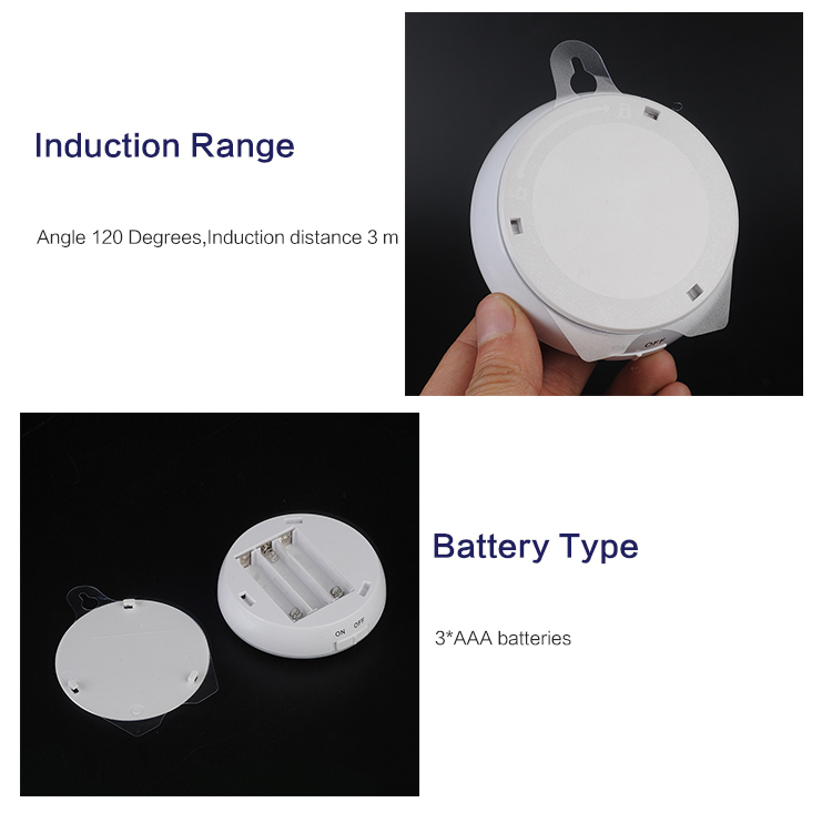 Battery powered motion sensor led lights Mini Motion sensor led Induction lamp led cabinet light led motion sensor light