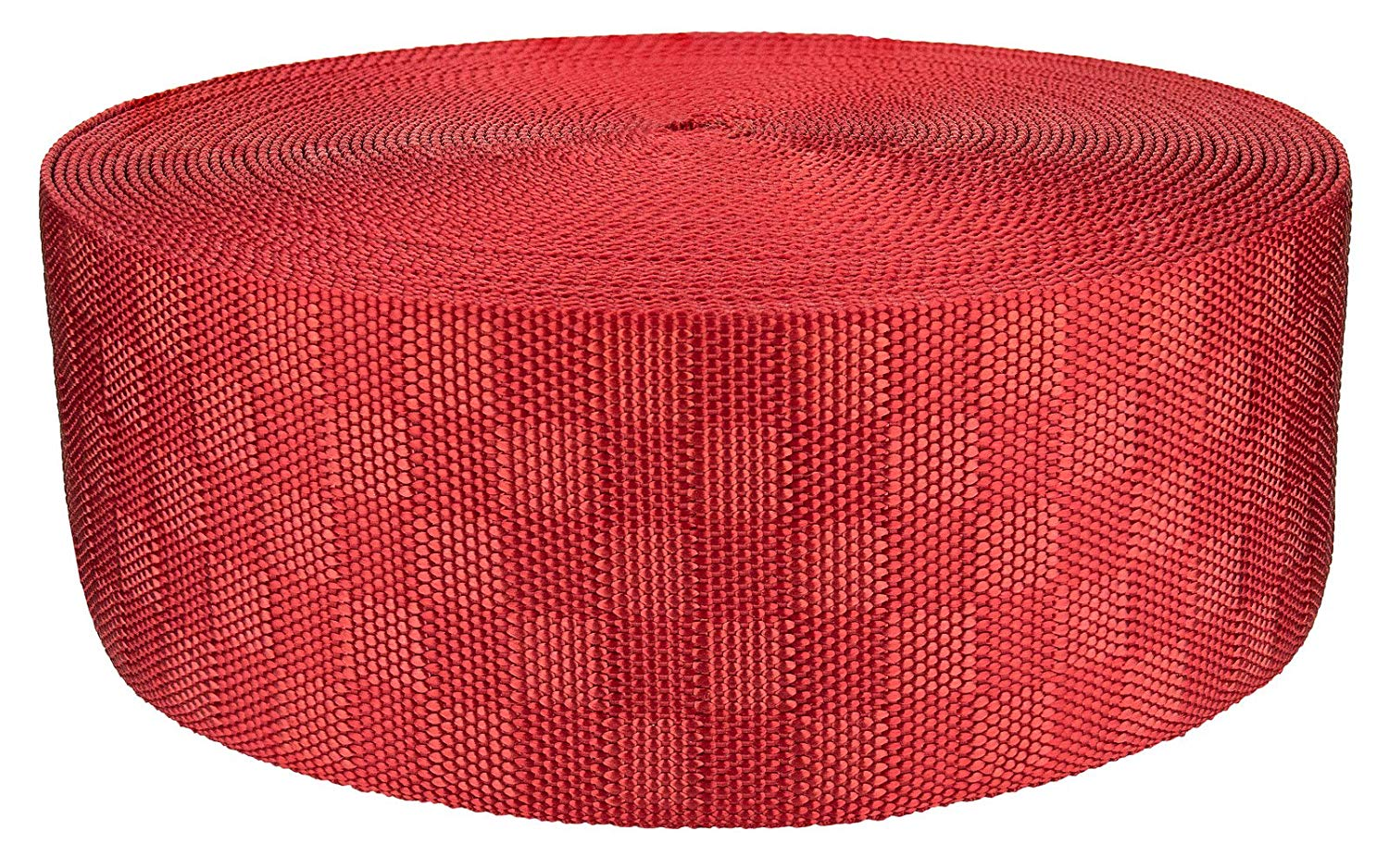 3 Inch Red Checkerboard Heavy Nylon Webbing Closeout, 20 Yards