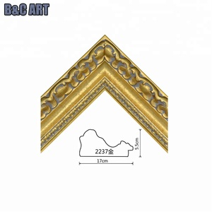 B&C ART New Fashion Decorative Carved Ornate Wood Frame Moulding for Wall Painting