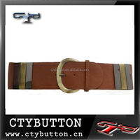 CTY brand 75% off price of cotton custom web belts for jeans