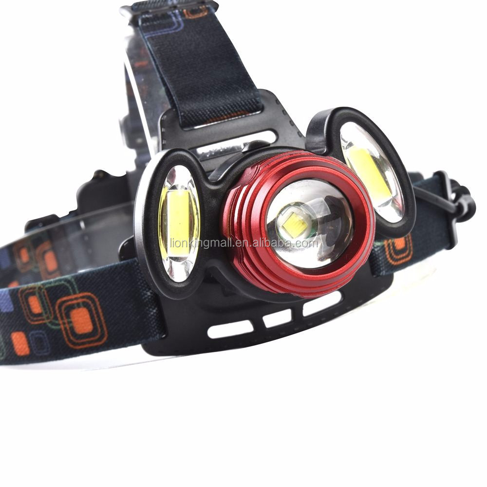 AloneFire HP94 T6 Adjustable T6+COB zoom LED Headlamp headlight Rechargeable Caming Hunting Head Light frontale linternas