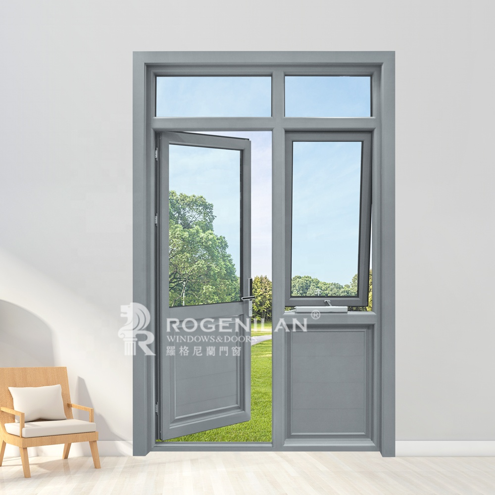 Ready made aluminum alloy tempered glass window door awning for house