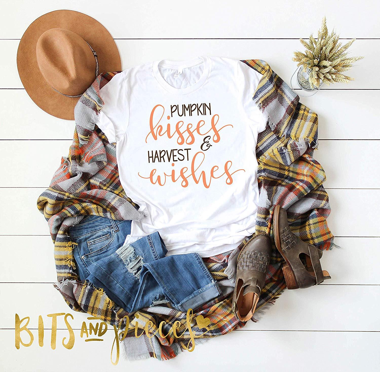 Pumpkin Kisses Tee - Pumpkin Spice Everything, Fall Shirt, Autumn Shirt, pumpkin shirt, thanksgiving shirt, halloween shirt,cute fall tee