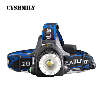 CYSHMILY Amazon hot sell Zoomable 3 Modes Super Bright LED Headlamp with Rechargeable Batteries Car Charger led headlight