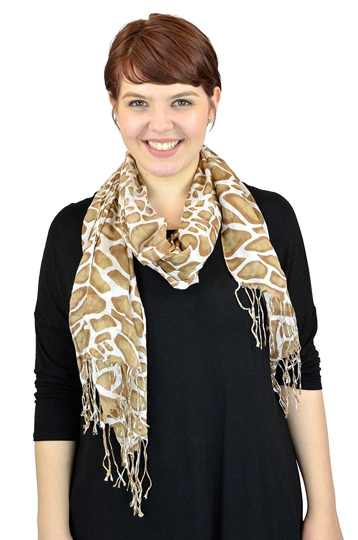 7c7e6e00016c1 Get Quotations · Pashmina Scarves Women Scarf Soft Wrap Shawl Animal Print: Zebra  Leopard Giraffe Scarves By Belle