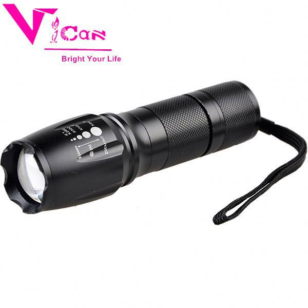 Portable Outdoor Water Resistant Torch With Adjustable Tactical Waterproof Led Flashlight