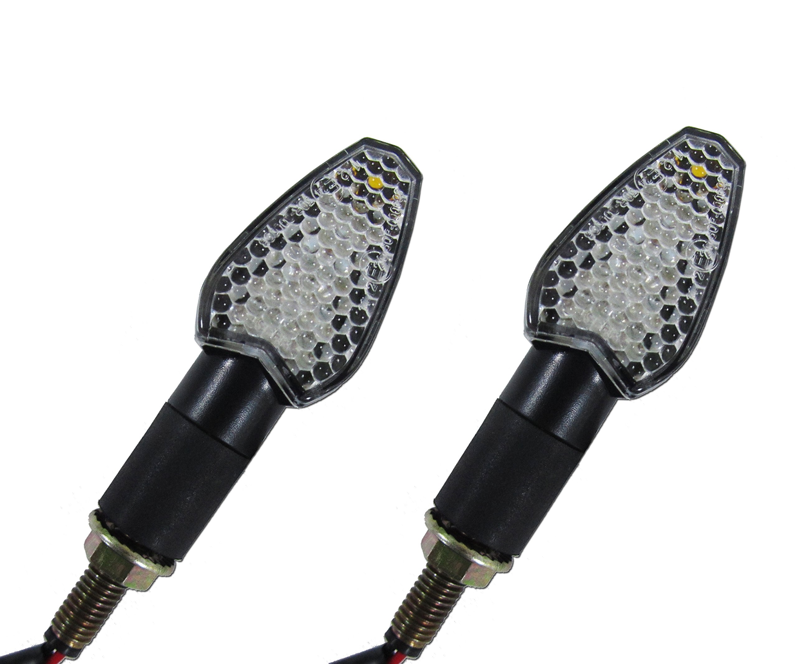 LED Mini Black Arrow Motorcycle Turn Signal Indicator Directional Lights Front/Rear Pair (2 Blinkers) for Aprilia, Buell, BMW, Harley, Honda, Kawasaki, KTM, Moto Guzzi, Suzuki, Triumph, Yamaha
