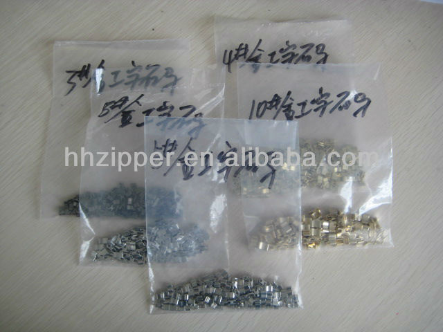 zinc alloy H bottomstop&zipper parts