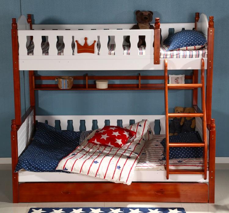 Venta al por mayor camas literas de madera para adultos-Compre ...