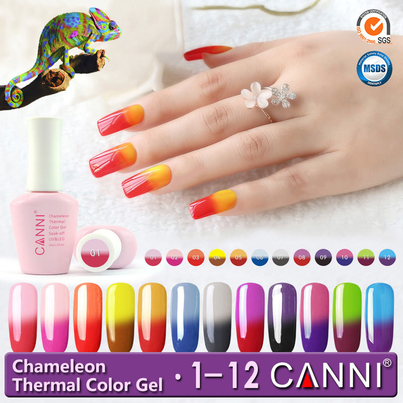 50423W CANNI Private Label Temperature Change Nail Polish Gel 15ml Colour Change Gel Polish