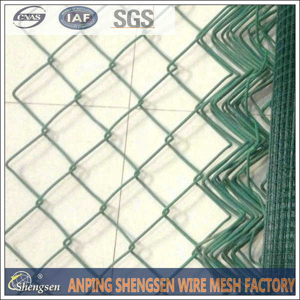 factory price pvc coated chain link sport fence