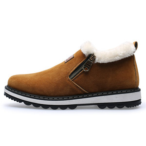 Best Price Rubber Sole Brown Suede Leather Winter Snow Casual Boots Men Warm