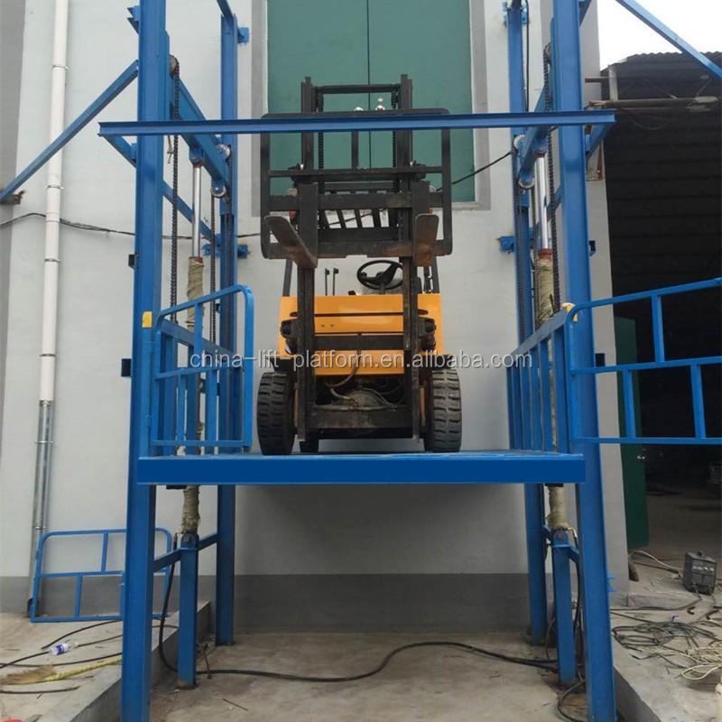 Outdoor and indoor vertical freight elevator warehouse for Indoor elevator