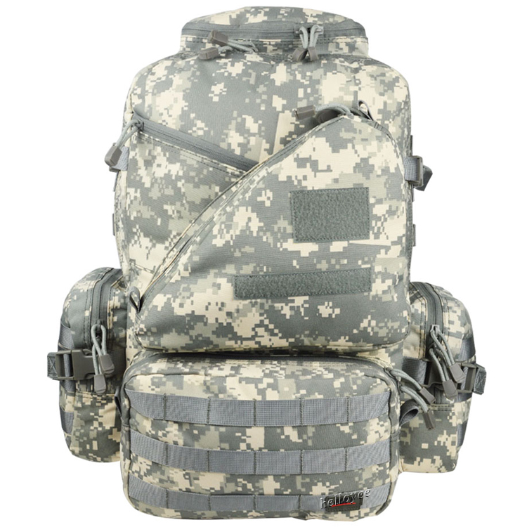 3 Day 50L Waterproof Camouflage 3D Expandable Tactical Military Backpack  600D a8885b29951c9