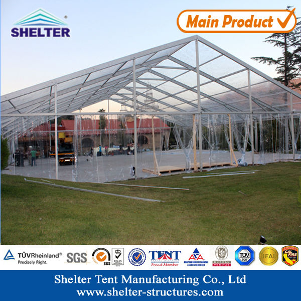 2017 Shelter Structures fire resistant tarpaulin PVC aluminium frame 20 x 50 canopy tent outdoor