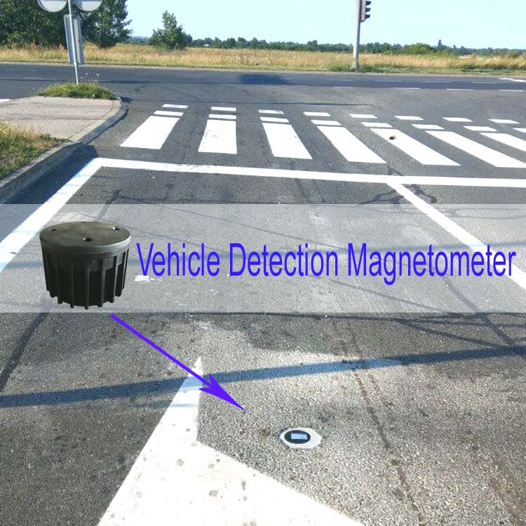 Rosim Wireless Magnetic Vehicle Detection Magnetometer Car Counting Sensor  for Smart Traffic Light System, View vehicle detection magnetometer, ROSIM