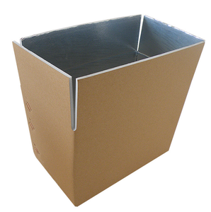 cold frozen food packaging boxes shipping aluminum cooler box corrugated carton box