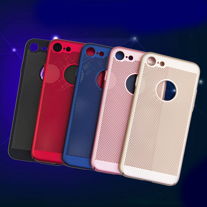2017 Top Rated Item Heat Dissipation Function Net Mesh ultra thin PC Phone Case plastic cover for samsung A7 2017/A720