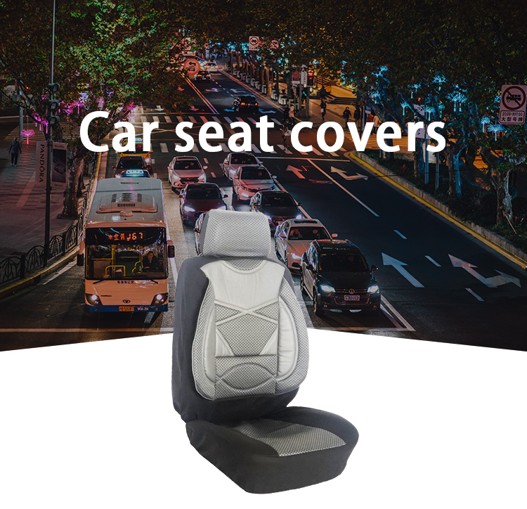 ZT-B-107 universal polyester gray  car seat cover
