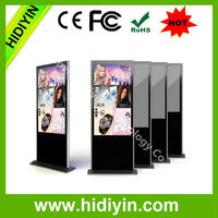 Floor Standing LCD Advertising Player Online Live 65 Inch Advertising Displays