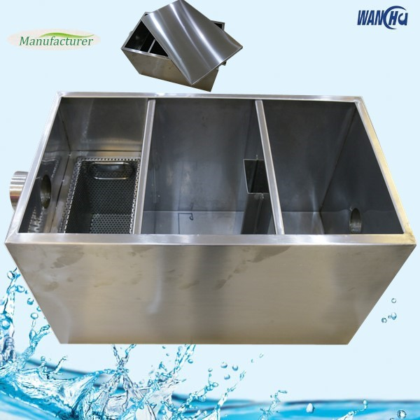 Industrial Kitchen Grease Trap: Stainless Steel Kitchen Oil Grease Trap Interceptor In