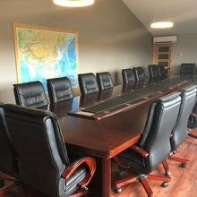 <span class=keywords><strong>Amerika</strong></span> Echte Case 20 Zits Boardroom Ontwerp Conference Meeting Tafel Met Kabel Gaten