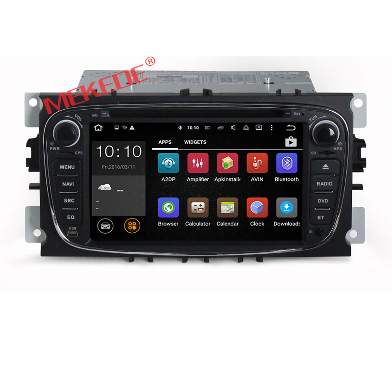 2-din android 7.1 car dvd player for FORD Mondeo S-MAX F OCUS 2008 2009 2010 with DVD GPS navigation radio 4G WIFI 2GRAM BT