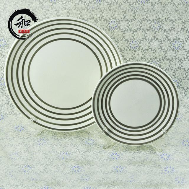 Factory Whole Fine Stoneware Decoration Porcelain Restaurant Dinner Plates Set