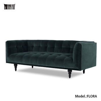 Luxury Chesterfield Velvet Button Tufted Sofa,fabric Sofa Chesterfield,  Midcentry Modern Vintage Furniture Sofa