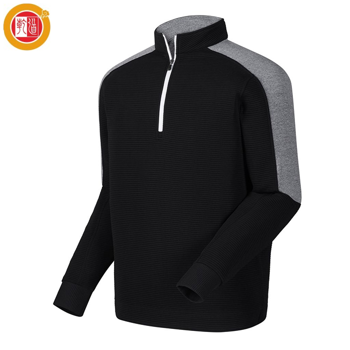 New Design Sweatshirt Man Layer Lined Golf Hoodie 1/4 Zip Pullover For Wholesale
