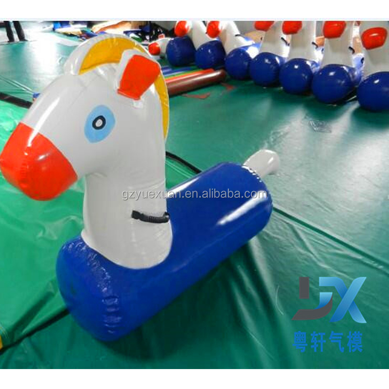 Inflatable pony/ race horse race riding race riding on a short horse cartoon