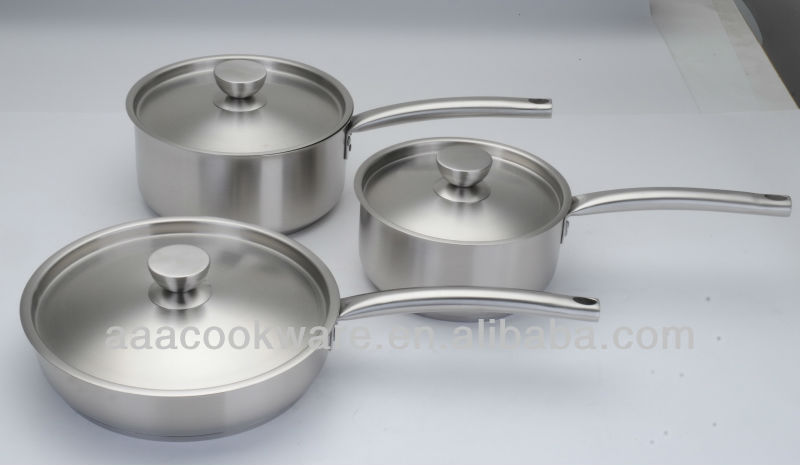 OEM 18/8 Stainless Steel Cookware with indution bottom for Wholesale/Retail
