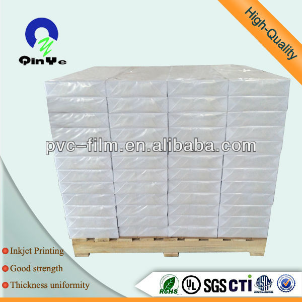 A4 White Material Pvc Id Cards Pvc Plastic Sheet
