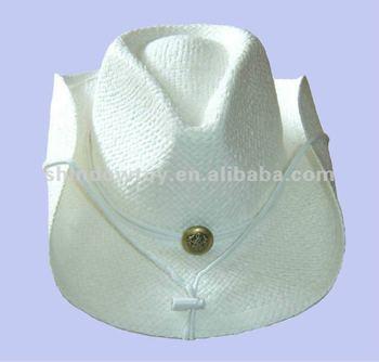 Blanco Sombrero Vaquero De Paja 74c30627e3d