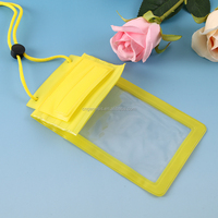 new fashionable colorful funky design cheap mobile phone silicone waterproof bag